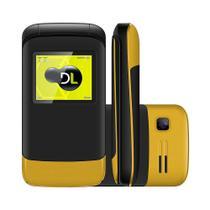 Celular DL Desbloqueado com Dual Chip Câmera - Preto/Amarelo -