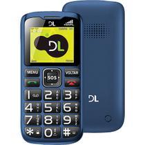 Celular DL YC-120 com Dual Chip e Tecla SOS Azul -