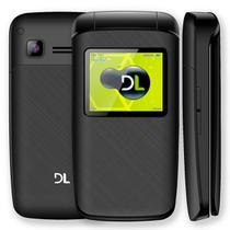 Celular DL YC-330 Flip, Dual Chip, Camera Digital e Radio FM Preto -