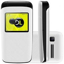 Celular dl yc330 flip dual chip idoso lacrado -