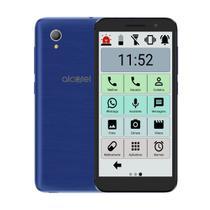 Celular Do Idoso Alcatel 16gb Tela 5 Ícones Grandes Sos Azul -