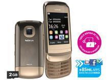 Celular Dual Chip Nokia C2-06 Desbloqueado TIM - Câmera 2MP MP3 Player Bluetooth Cartão 2GB