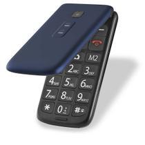 Celular Flip Vita Dual Chip Mp3 Azul Multilaser - P9020 Funções Idoso -