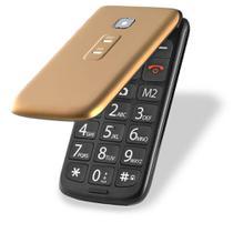 Celular Flip Vita Dual Chip Mp3 Dourado Multilaser - P9043 -