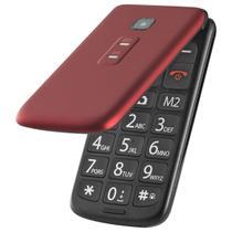 Celular flip vita dual chip vermelho p9021 - Multilaser