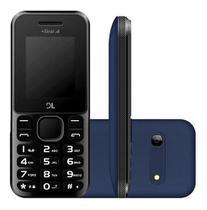 Celular Idoso Dl Yc-215 Azul Radio Fm Camera Dual Chip + Nf -