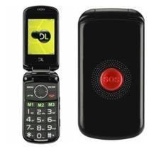 Celular Idoso Dl Yc130 Sos 2 Chips Câmera Radio Lanterna Nf -