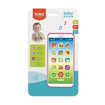 Celular Infantil Baby Phone Rosa Buba Toys -