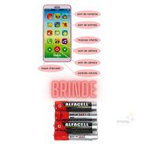 Celular Infantil Baby Phone Sons E Musicas + 4 Pilhas Brinde - Buba