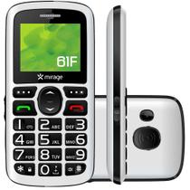 Celular Mirage 61F Dual Chip Tela 1.8 Camera MP3 Radio FM Bluetooth e USB Branco - 1101