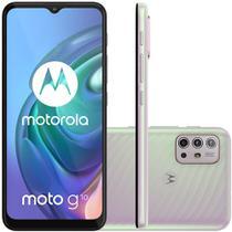 Celular Motorola Moto G10 Branco Floral 64GB Tela 6.5 Camera 48MP 8MP 2MP 2MP -