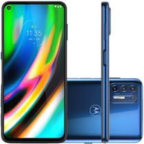 Celular Motorola Moto G9 Plus Azul 128GB Tela 6.8 Camera 64MP + 8MP + 2MP + 2MP -