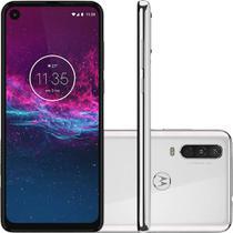 "Celular Motorola Moto One Action 64GB Branco Polar Tela 6.3"" Câmera 12MP+5MP+16MP -"
