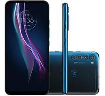 Celular Motorola Moto One Fusion Plus Azul 128gb Tela 6.5 -