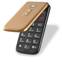 Celular Multilaser Flip Vita Dual Chip MP3 Dourado - P9043 -