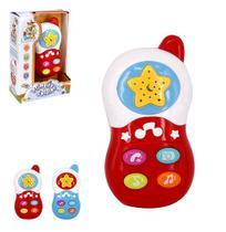 Celular musical infantil baby colors com luz a pilha na caixa wellkids - Wellmix