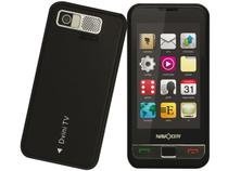 Celular NavCity Dvini Touch - entrada para 2 chips - Câmera 1.3 MP MP3 Player TV Analógica