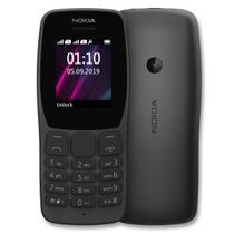 Celular Nokia 110 Dual SIM Preto Simples - Rádio Fm, Leitor Mp3, Câmera VGA, Jogos - Original -