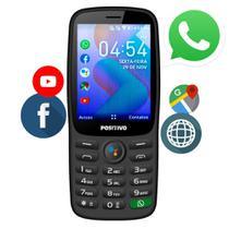 Celular P/ Idoso Positivo P70s 4gb Dual Chip 4g Bluetooth Wi-Fi Whatsapp Face Barato NF Menor Preço -