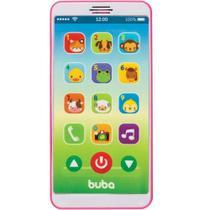 Celular Para Bebê Baby Phone Rosa Com Som Buba -