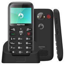 """Celular Positivo P65 Preto com Tela 2.3"""", Dual Chip, Câmera VGA, Bluetooth e Rádio FM -"""