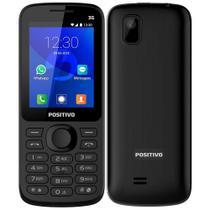 """Celular Positivo P70 Dual Chip, Preto, Tela 2.4"""", 3G, Bluetooth, Whatsapp e Facebook, 256MB -"""