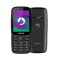"""Celular Positivo P70 Whatsapp 512MP Dual Chip Android Tela 2,4"""" 3G Câmera VGA - Preto -"""