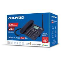 Celular rural fixo de mesa quadriband 850/1900 mhz dual chip ca42s - Aquario