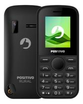 Celular Rural Positivo P220 Rádio FM Botão SoS Conector p/ Antena Preto -