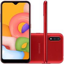 Celular Samsung Galaxy A01 Vermelho 32GB Tela 5.7 2GB RAM Camera Dupla 13MP 2MP -