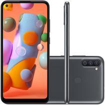 Celular Samsung Galaxy A11 Preto 64GB Tela 6.4 3GB RAM Cam Tripla 13MP 5MP 2MP -