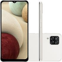 Celular Samsung Galaxy A12 Branco 64GB Tela 6.5 4GB RAM Camera 48MP 5MP 2MP 2MP -