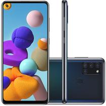 Celular Samsung Galaxy A21s Preto 64GB Tela 6.5 4GB RAM Camera 48MP 8MP 2MP 2MP -