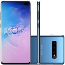 Celular Samsung Galaxy S10 Plus Azul 128GB Tela 6.4 8GB RAM Cam 16MP 12MP 12MP -
