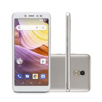"Celular Smartphone Multilaser 3G Quad Core 5,5"" 8GB 8MP Android 8.1 MS50G NB731 Branco/Dourado"