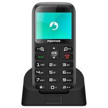 """Celular Telefone sem fio Positivo P65 Dual SIM 32MB Tela de 2.2"""" 0.3MP - Preto -"""