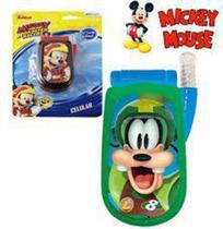 Celular Turma do Mickey com Som e Luz a Pilha 9cm - 130210 - Etilux -