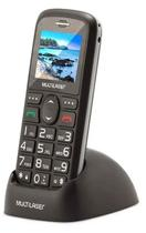 Celular Vita 3g Teclas Grandes , Câmera, Bluetooth, Botão Sos, Barato Fácil Idoso + Base Carregadora - P9091 - Multilaser