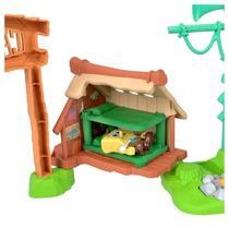 Cenário Acampamento de Coral Bob Esponja com Bonecos Fisher-Price - GNG60 - Imaginext - Mattel -