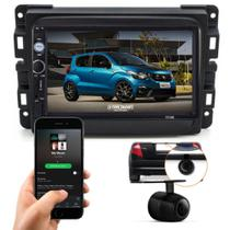 Central Dvd Automotivo Bluetooth + Moldura 2 Din Fiat Mobi + Brinde -