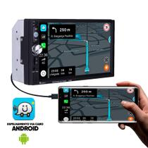 Central Multimedia Hd Touch Screen 7 Pol Usb Bluetooth - Dex