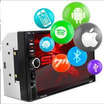 "Central Multimídia 2 Din 7"" Bluetooth Espelhamento Android Iphone Waze Spotify USB MP5 Shutt Miami -"