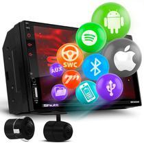 "Central Multimídia 2 Din 7"" Touch Bluetooth Espelhamento Android Iphone Shutt New Miami + Câmera Ré -"