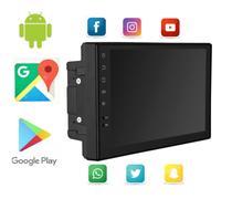 Central Multimídia 2 Din Universal Mp5 Wifi Gps Bt Usb App Android 16gb 1Gb Ram Iphone Espelhamento - Jr