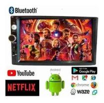 Central Multimídia Android 2 Din Cobalt Onix Spin Waze + Moldura 2 Din - First option