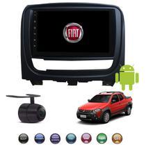 Central Multimídia Android Fiat Strada 2013 2014 2015 2016 2017 2018 2019 - H-Tech