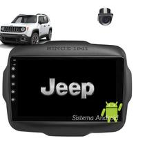 Central Multimidia Android Jeep Renegade Longitude 2015 2016 2017 2018 2019 2020 Tela 9  WIFI Camera  Gps BT Espelhamento Android* e Ios - Compatível - X3automotive