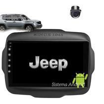 Central Multimidia Android Jeep Renegade Standard 2020 9pol  WIFI Usb Camera + Gps BT Espelhamento Android* e Ios Compatível somente com o modelo que - X3automotive