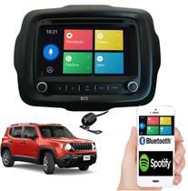 Central Multimídia Automotiva Jeep Renegade Pcd Com Dvd 7 ' Usb Sd Espelhamento Câmera de ré Fm - pancadaoeletronicos