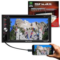 """Central Multimídia Automotiva Shutt Dakota 2 Din 6.2"""" Touch Bluetooth Espelhamento Android DVD MP3 -"""